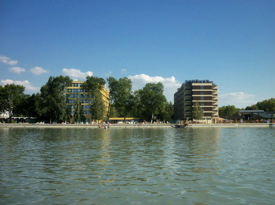 Siofok Hotel Lido from Lake Balaton
